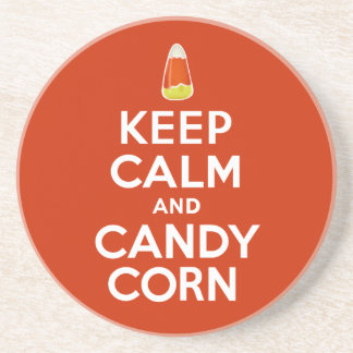 Keep Calm and Candy Corn Coaster
