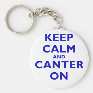 Keep Calm and Canter On Basic Round Button Key Ring