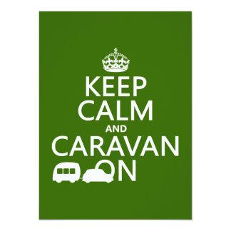 Keep Calm and Caravan On (customizable colors) Announcements