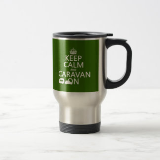 Keep Calm and Caravan On (customizable colors) Stainless Steel Travel Mug