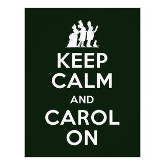 Keep Calm and Carol On Flyers
