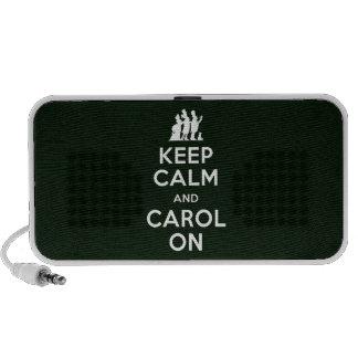 Keep Calm and Carol On Notebook Speaker
