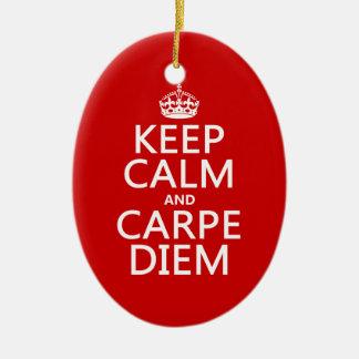 Keep Calm and Carpe Diem Christmas Ornament