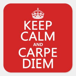 Keep Calm and Carpe Diem Sticker