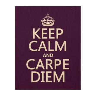 Keep Calm and Carpe Diem Wood Wall Decor