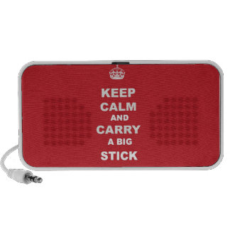 Keep Calm and Carry a big Stick Speaker System