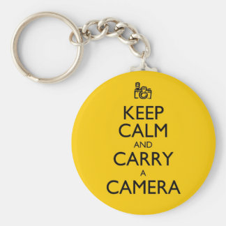 Keep Calm and Carry a Camera Basic Round Button Key Ring