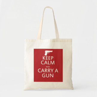Keep Calm and Carry a Gun Budget Tote Bag