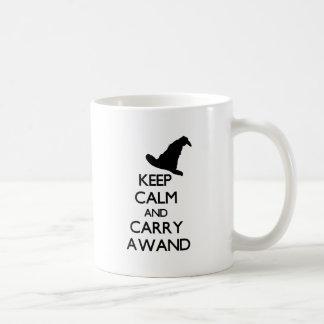 KEEP CALM AND CARRY A WAND COFFEE MUG