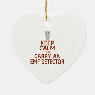 Keep Calm and Carry an EMF Detector (Parody) Christmas Ornament