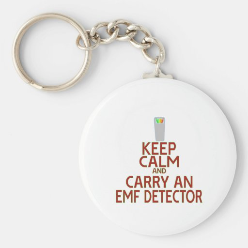 Keep Calm and Carry an EMF Detector (Parody) Keychain