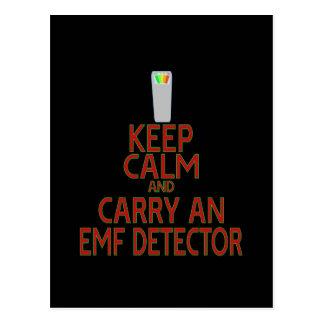 Keep Calm and Carry an EMF Detector (Parody) Postcard