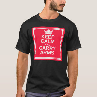 Keep Calm and Carry Arms Danish Viking Gear T-Shirt