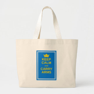 Keep Calm and Carry Arms Swedish Viking Gear Canvas Bag