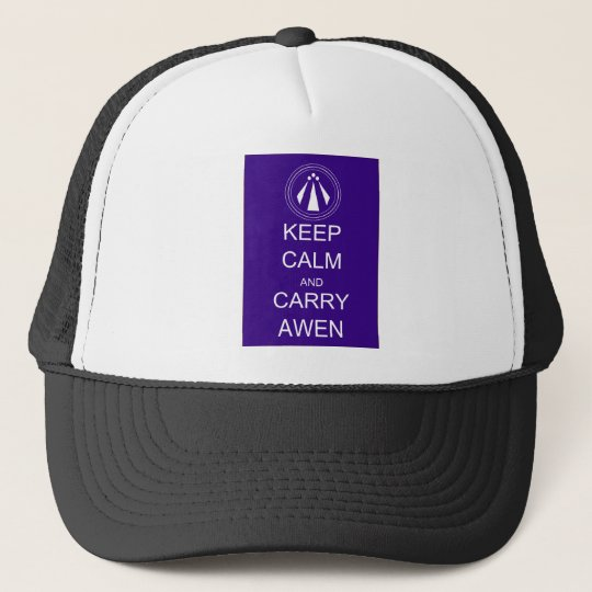 Keep Calm and Carry Awen Trucker Hat