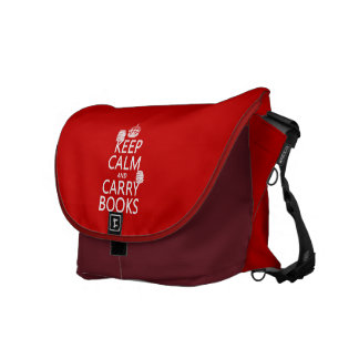 Keep Calm and Carry Books (in any color) Courier Bags