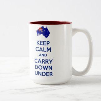 Keep Calm and Carry Down Under Mug