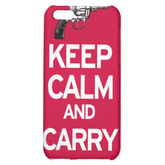 Keep Calm and Carry Firearms Iphone 4 case