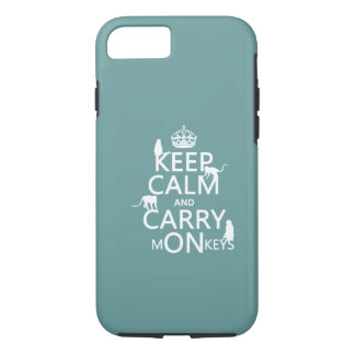 Keep Calm and Carry mONkeys - all colors iPhone 8/7 Case