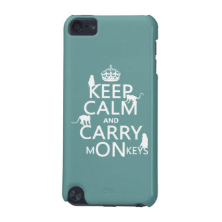Keep Calm and Carry mONkeys - all colors iPod Touch (5th Generation) Cover