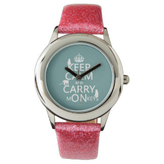 Keep Calm and Carry mONkeys - all colors Watch