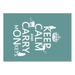 Keep Calm and Carry mONkeys - all colours Business Card