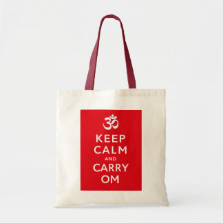 Keep Calm and Carry Om Crafts and Shopping Tote Bag