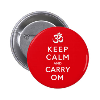 Keep Calm and Carry Om Motivational Badge Name Tag