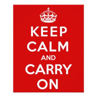 Keep Calm and Carry On 11.5 Cm X 14 Cm Flyer