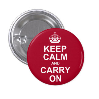 keep calm and carry on 3 cm round badge