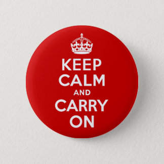 Keep Calm and Carry On 6 Cm Round Badge