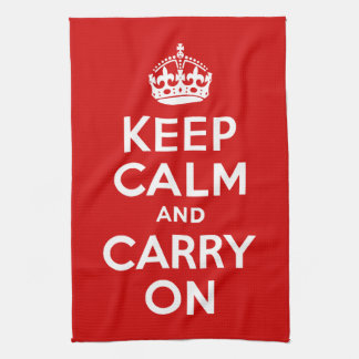 Keep Calm and Carry On American MoJo Kitchen Towel