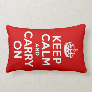 Keep Calm and Carry On American MoJo Pillow