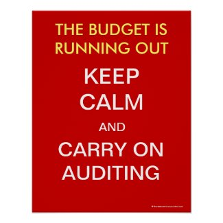 Keep Calm and Carry On Auditing - Poster