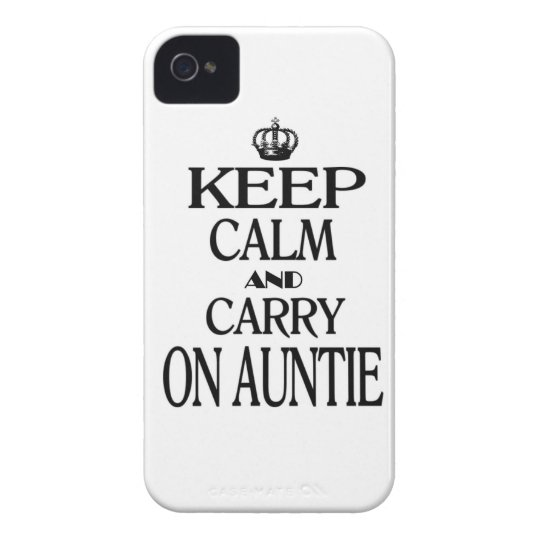 Keep Calm and Carry on Auntie iPhone 4 Case-Mate Cases
