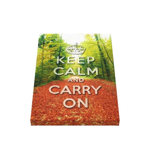 keep calm and carry on Autumn season Stretched Canvas Prints