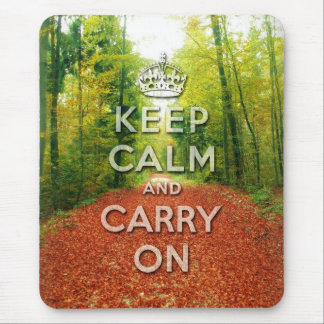 keep calm and carry on Autumn season Mouse Pad