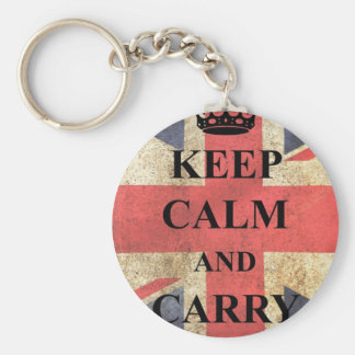 keep-calm-and-carry-on- basic round button key ring