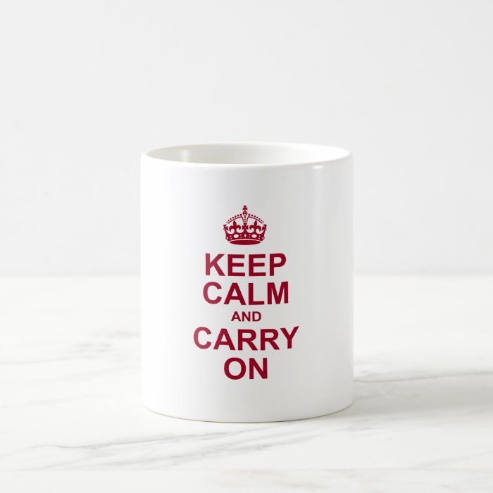 keep calm and carry on basic white mug
