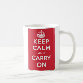Keep Calm And Carry On Basic White Mug