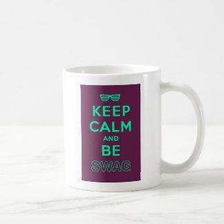 Keep Calm and Carry On Be Swag Sunglasses Coffee Mug
