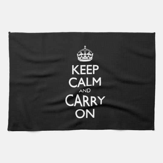 Keep Calm And Carry On - Black And