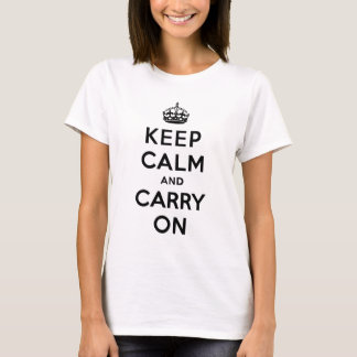 Keep Calm and Carry On Black Text T-Shirt
