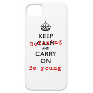 Keep Calm and Carry On Botox Young 3D Fashion Barely There iPhone 5 Case