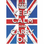 Keep Calm and Carry On British Flag Photo Cutout