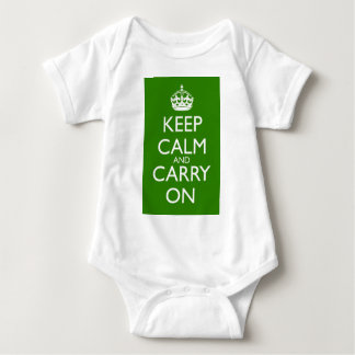 Keep Calm and Carry On British Racing Green Baby Bodysuit