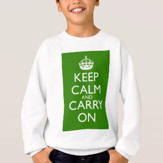 Keep Calm and Carry On British Racing Green Sweatshirt