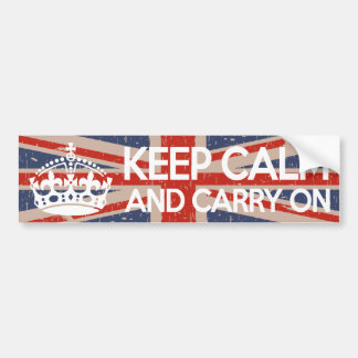 Keep Calm and Carry On Car Bumper Sticker