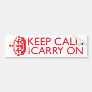 Keep Calm and Carry On Bumper Stickers