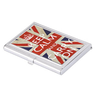 Keep calm and carry on business card case